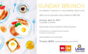 Sunday Brunch Buffet Los Angeles by Equality California Eqcai Sunday Brunch