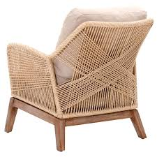Modern Fabric Chairs Luca Sand Woven Club Chair Living Rooms Room And Lobby Design