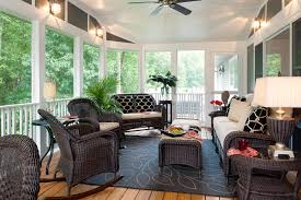 Screened In Patio Designs Decorating A Screened Porch Houzz Design Ideas Rogersville Us