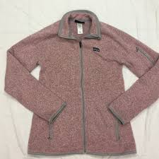 patagonia s better sweater patagonia patagonia better sweater in light pink and gray from