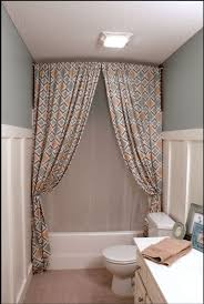 Ideas For Hanging Curtain Rod Design Shower Curtain My Home Ideas Pinterest Within Creative Ways