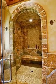 Designer Showers Bathrooms Old World Corner Double Shower Tile Design Pictures Remodel