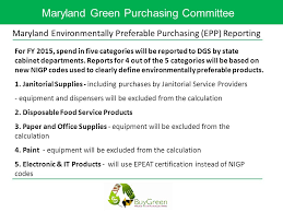 Define Cabinet Departments Maryland Green Purchasing Committee Maryland Environmentally