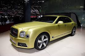 bentley yellow bentley mulsanne feels the need for speed in geneva