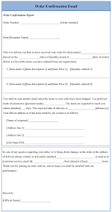 order confirmation template