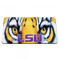 lsu alumni license plate tiger up acrylic license plate