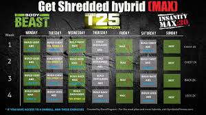 bodybeast hybrid with insanity max 30 and t25 get shredded