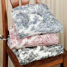 Victoria Park Toile Chair Cushion Set Of - Chair cushions for dining room