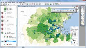 Data Map Creating Maptitude Mapping Software Maps With Excel Data Youtube