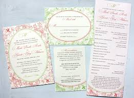 invitation design programs wedding invitations programs coral apple floral oval framed