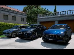 porsche cayenne turbo vs turbo s gta v maserati levante vs bmw x6m vs porsche cayenne turbo s