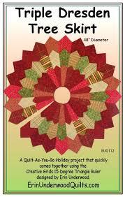 tree skirts patterns triple dresden tree skirt pattern the