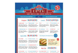 american diner restaurant web template pack from serif com