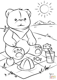 teddy bears u0027 picnic coloring page free printable coloring pages