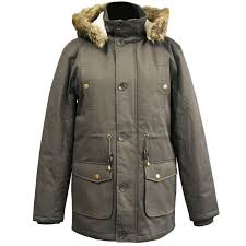 mens parka jacket padded warm coat now
