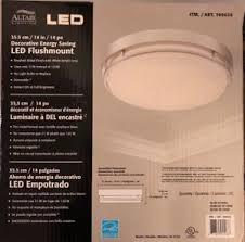 altair 14 led flushmount light altair lighting decorative energy saving led flushmount 14 inch