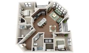 Studio Apartment Floor Plan by 3dplans Com