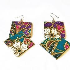 earrings malaysia malaysia fabric earrings handmade malaysian batik