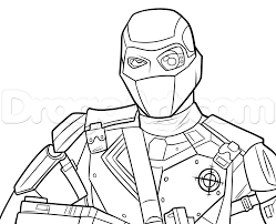 how to draw deadshot from squad step by step dc comics