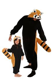 halloween pajamas for babies amazon com red panda kigurumi all ages costume clothing