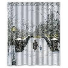Christmas Bathroom Decor Amazon country christmas shower curtain bird and snow beautiful winter