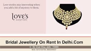 wedding jewellery for rent bridal jewellery on rent in east delhi kundan wedding jewellery