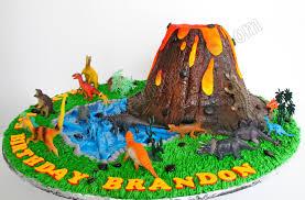 dinosaurs cakes celebrate with cake volcano dinosaur cake