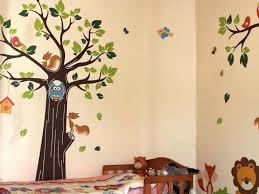 Nursery Tree Wall Decal by Decor 75 Archaic Design Baby Boy Nursery Ideas Brown Wooden Crib