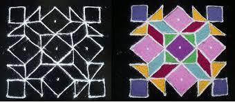 rangoli patterns using mathematical shapes presentation name