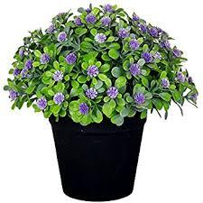 Fake Flowers For Home Decor Amazon Com Vgia Small Artificial Plants For Home Decor Fake