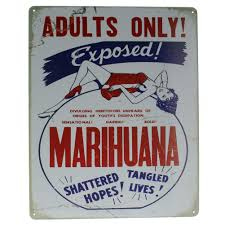 adults only marijuana exposed metal sign pub game room bar