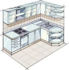 kitchen stunning l shaped kitchen plans small basement layouts l