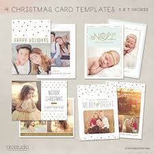digital photoshop christmas card template for photographers for