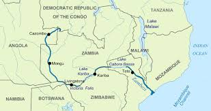 world rivers map zambezi river facts and information