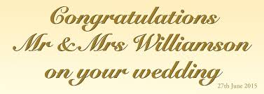 wedding congratulations banner personalised wedding banner personalised banners