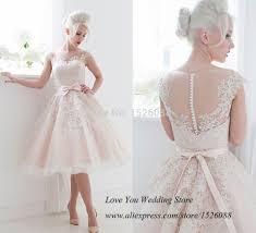 robe de mariee retro pas cher vintage rose robe de mariée courte dentelle robes de