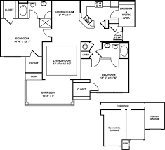garage floor plan greystone falls two bedroom bsr w garage floor plan