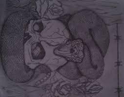 snake skull and roses by glsellers1 on deviantart