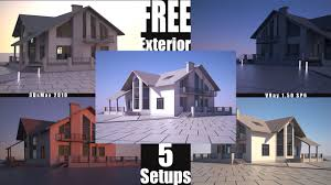 linear exterior setup 3ds max vray free exterior scenes here