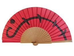 silk fan painted silk fan a22