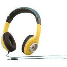 Minion Desk Accessories by Kiddesigns Minions Over Ear Headphones Ms 140 Fx Yellow Black