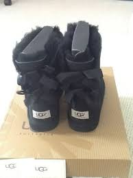 ugg boots sale size 2 brand bailey bow ugg boots in black size uk 2 36 00