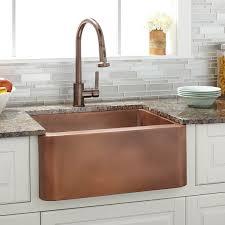 24 amelie copper farmhouse sink kitchen