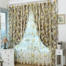 top finel modern rose floral tulle for window curtain sheer