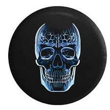 jeep beer tire cover glass skull electricity club rave jeep rv cer spare tire cover