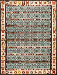 Persian Kilim Rugs by Light Blue Tribal Antique Turkish Kilim Rug 50628 Nazmiyal