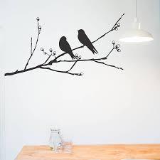 birds on a branch wall sticker by nutmeg notonthehighstreet com