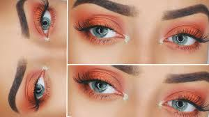 warm orange warm orange makeup look highly requested youtube