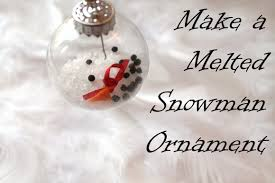 make a melted snowman ornament creative green living