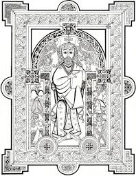 celtic ornament design from b epic book of kells coloring pages